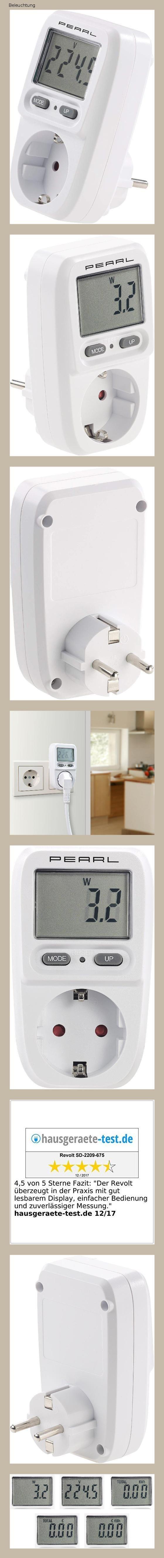 Revolt Energiekostenmesser Digitaler Energiekosten Messer Stromverbrauchs Zahler Bis 3 680 W Strommesser Stromverbrauch Energie Messer