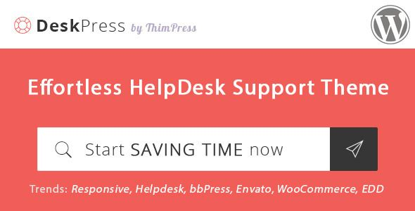 DeskPress u2013 Effortless Helpdesk Support WordPress (Miscellaneous - wordpress resume theme