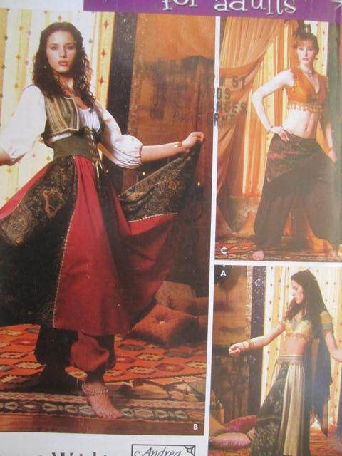See Sally Sew-Patterns For Less - Belly Dancer Harem Girl Halloween ...