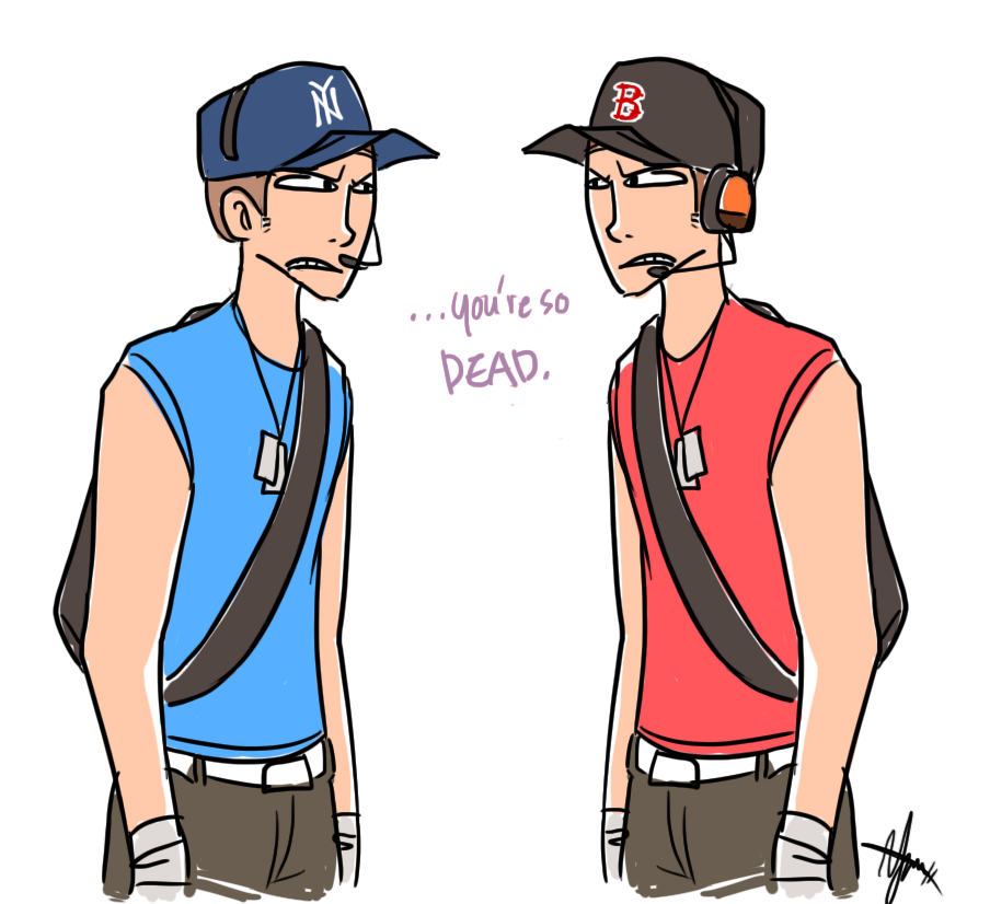 TF2: The Baseball Scouts by ky-nim.deviantart.com