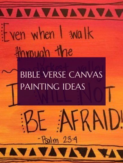 bible verse canvas painting ideas