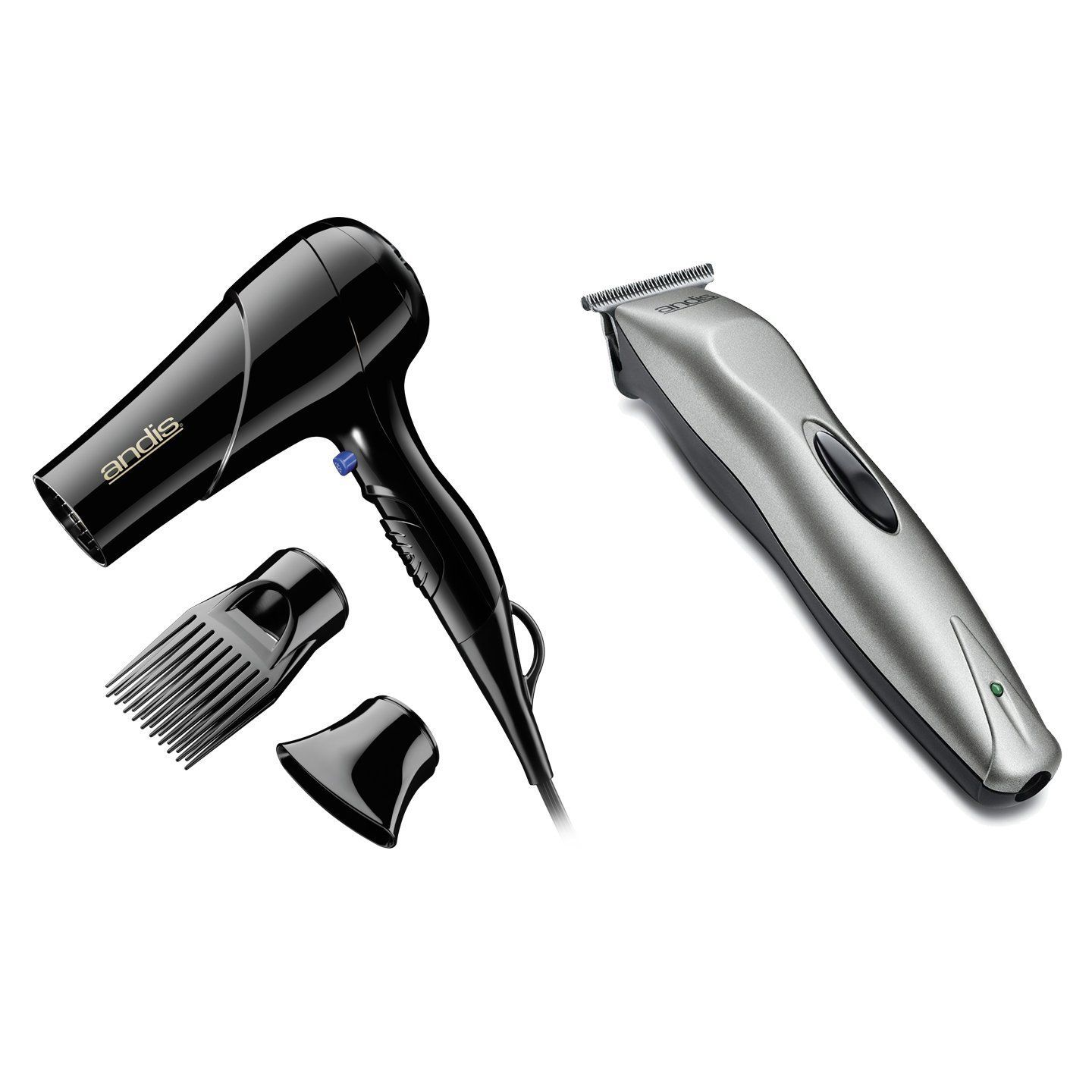 Andis  Watt Hair Blow Dryer w Comb and Nozzle Attachments and