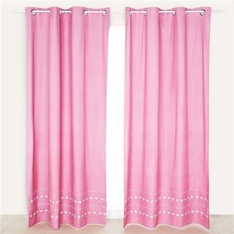 Roomates Eyelet Curtain Pair Pink Kmart Kids Bedroom Decor Baby Room Decor Kid Room Decor