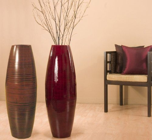 36 inch tall cylinder bamboo floor vase (branches not included