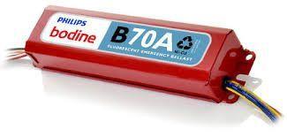 Philips-Bodine b70a linear fluorescent emerg ballast