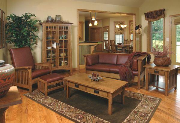 20 Comfortable Oak Living Room Furniture | Wood shop | Mission style ...