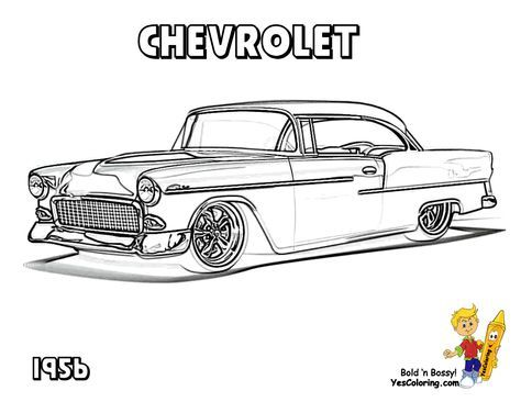 Classic Chevy Car Coloring Pages Cars Coloring Pages Classic