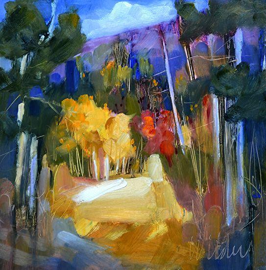 Trail by Judy Wilder Dalton Oil ~ 8 x 8