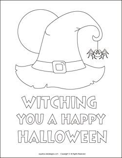 Free Witch Shoe Pattern | Free Halloween coloring pages - witch coloring sheets - witch hat ... #halloweencoloringpages