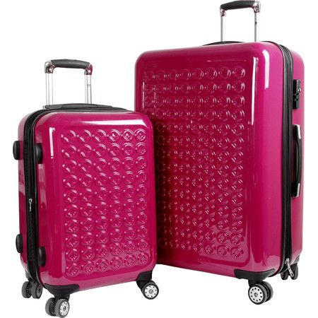 Jetset in style with this essential rolling suitcase set, perfect for weekend jaunts and exotic getaways.  Product: Small and la...
