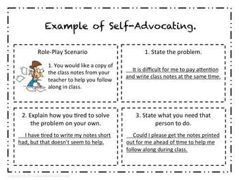 Speech Therapy Self-Advocacy Role Play Activity for High S ...