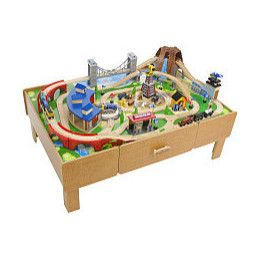 classis toys | Toys \ R\  Us Train Table with Roundhouse Wooden Train Set - Product .  sc 1 st  Pinterest : childrens wooden train set tables - pezcame.com