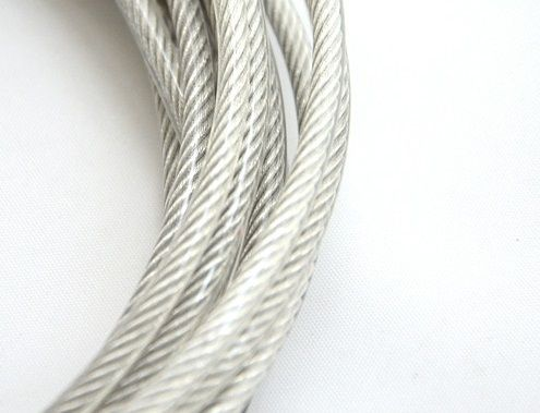 6MM, 7X19 10M, 304 stainless steel wire rope with PVC coating ...