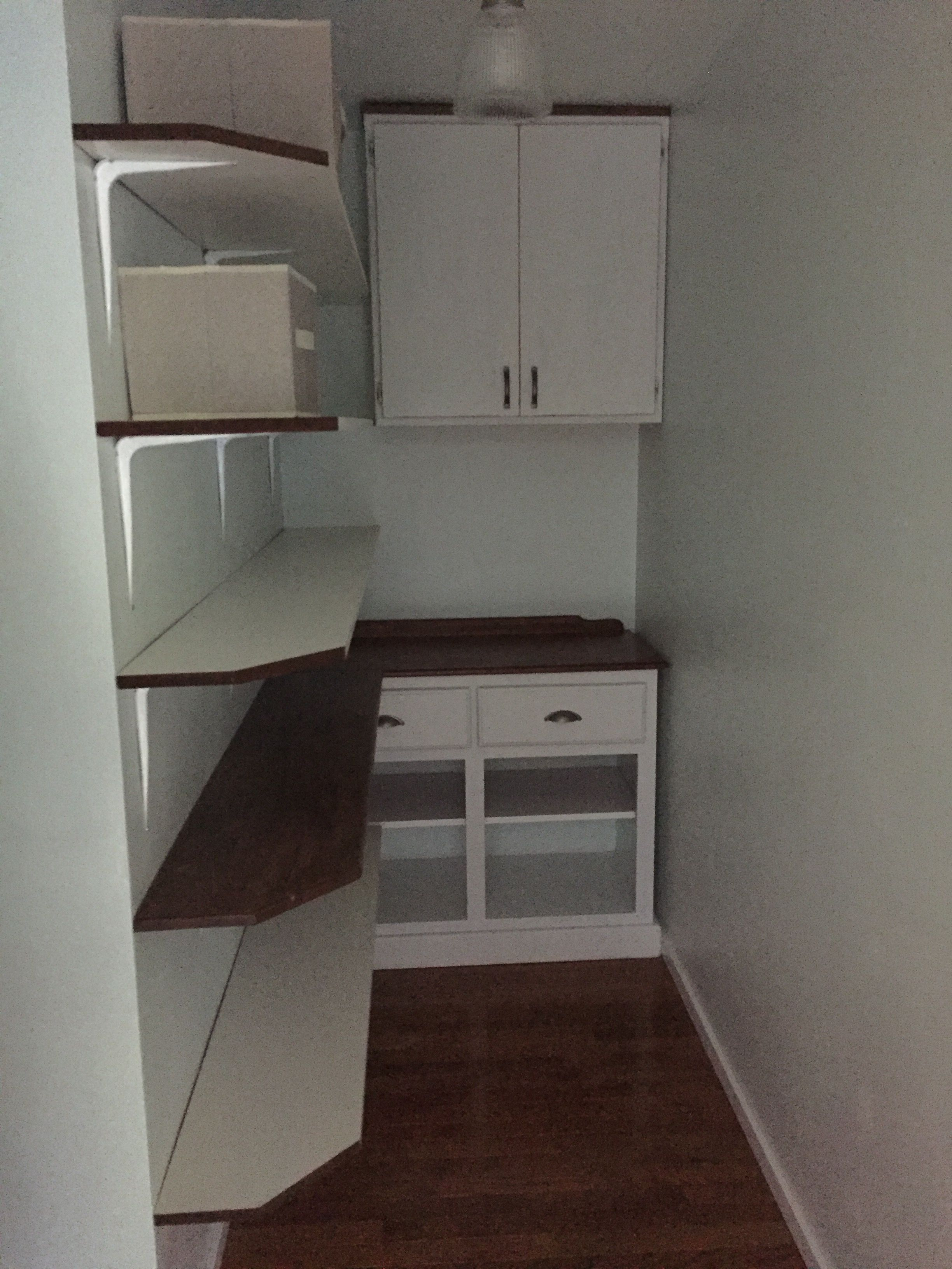 Reused Shelves, Refinished Cabinets And A Deal On Paint