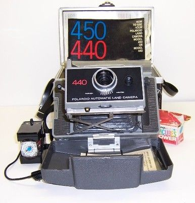 Vintage Polaroid 440 automatic land camera in near mint condition. Opening bid only $40!