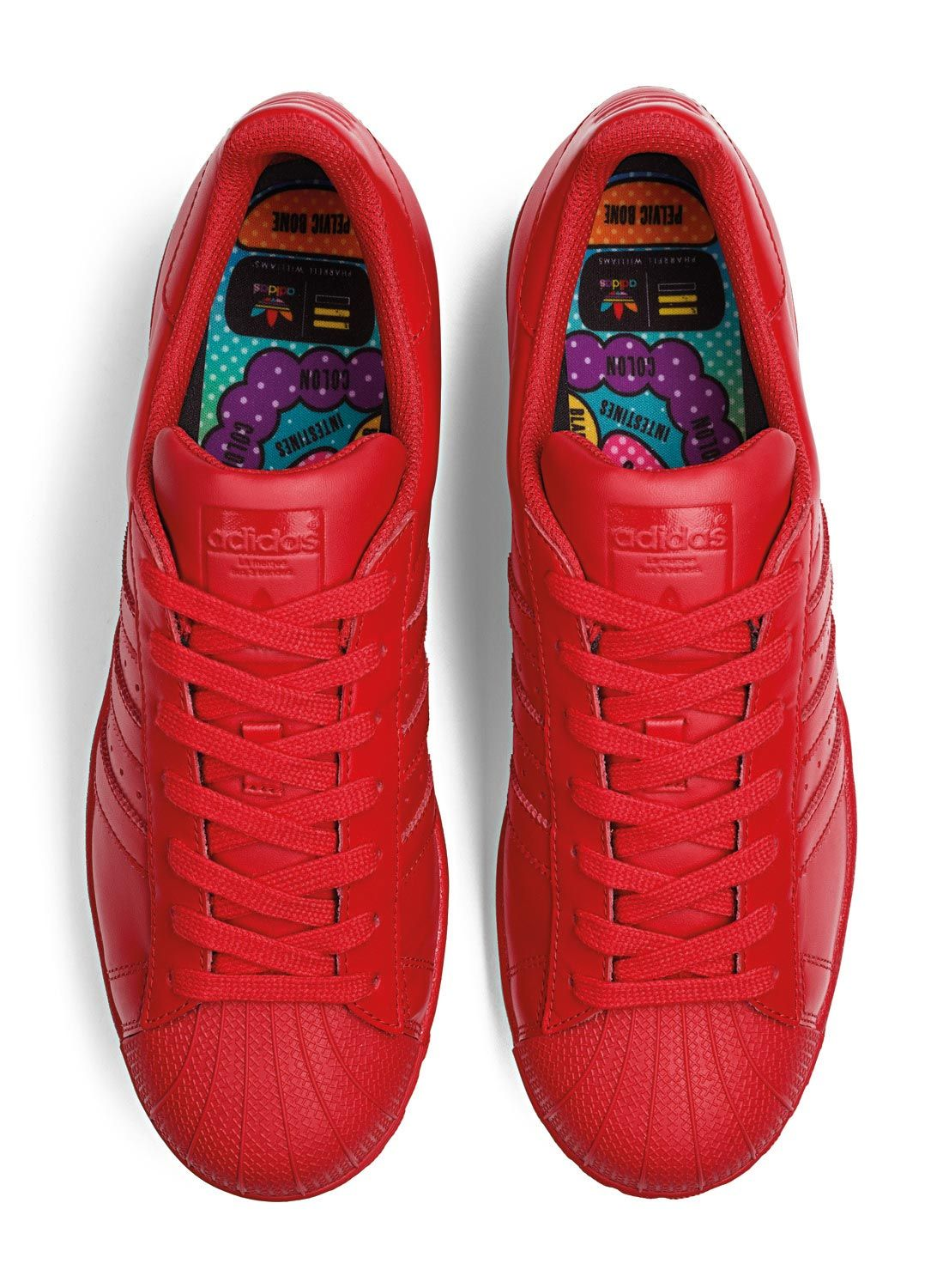 Le grand classique bien-aimé de la collection Supercolor : la chaussure Adidas  Superstar Supercolor.- couleur : rouge- collection Supercolor de Pharrell  ...
