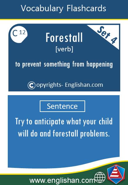 English Advanced Words for IELTS, TOEFL,CSS SET 4  English