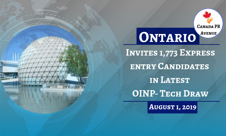 Ontario Opened the latest OINPTech Draw on August 1, to