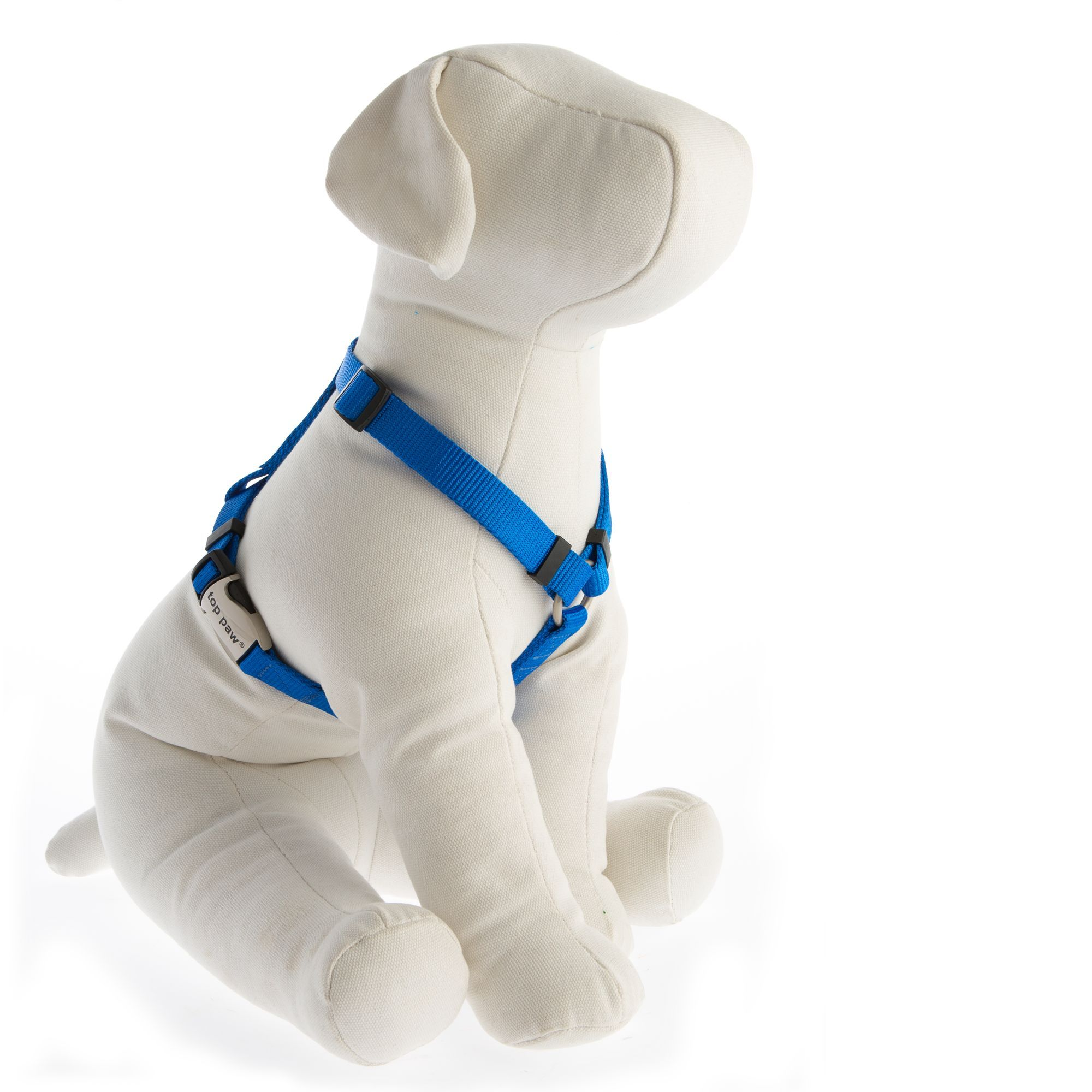 Top Paw Signature Adjustable Dog Harness Size X Small Blue Dog