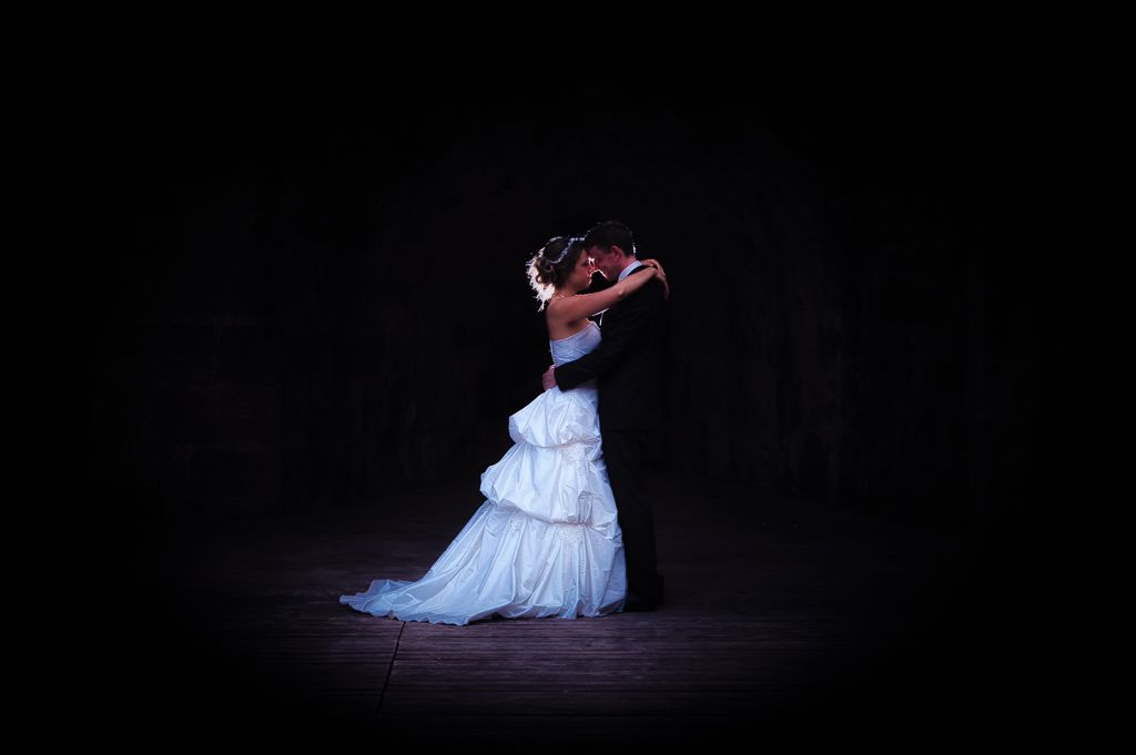 bride and groom. wedding couple black background. wedding ...