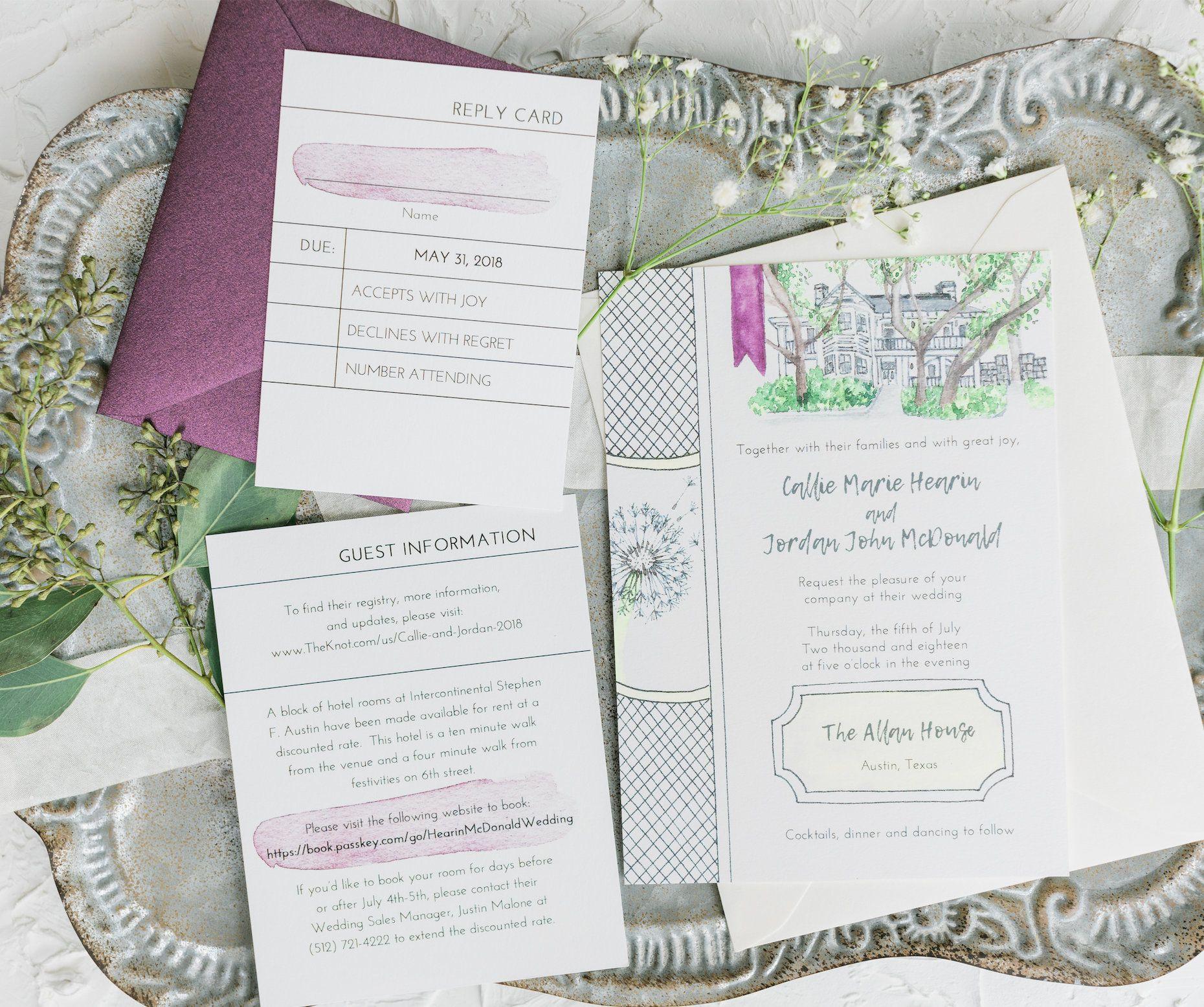 Vintage Book. Literary Themed Wedding Invitations (Set