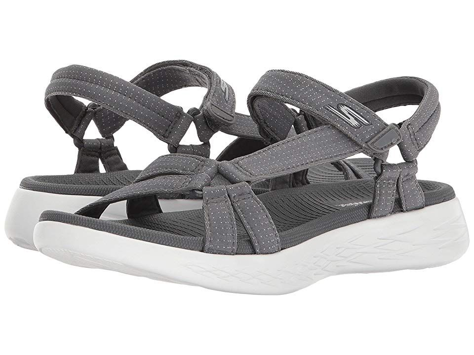 Skechers Performance On The Go 600 Brilliancy Charcoal Women S Sandals Keep On Rambling In Style And Comf Skechers Performance Skechers Skechers On The Go