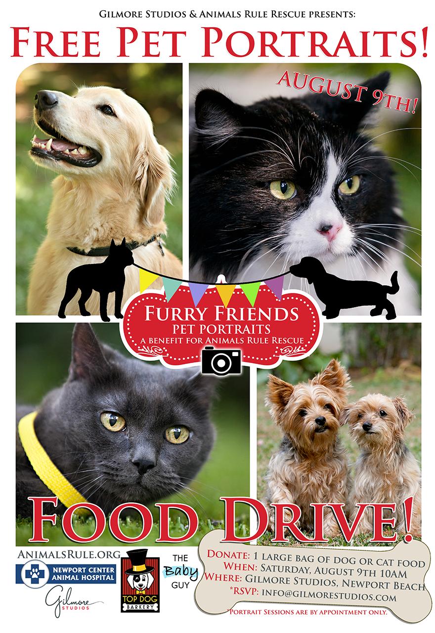 Furry Friends Free Pet Portraits Food Drive Charity Event