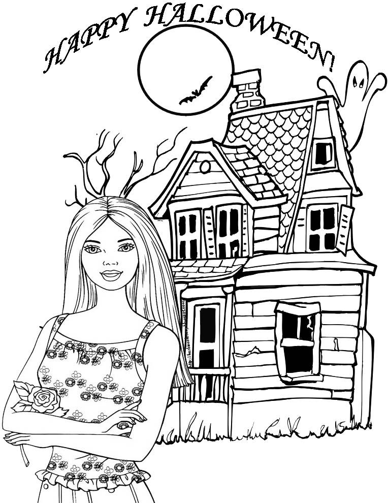 At A Good Time I Will Give You Lot Of Pictures On Coloring Pages Namely Barbie Halloween For Children Can Develop Their
