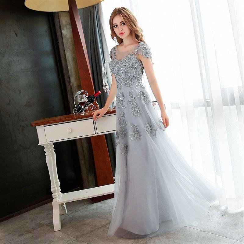 Chiffon Prom Dress with Sweater