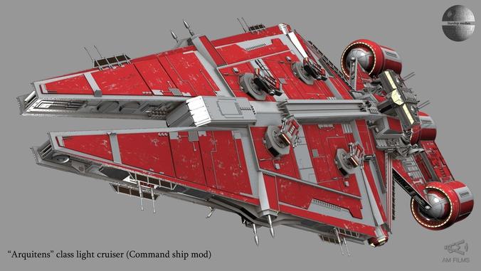 Arquitens Class Light Cruiser From Star Wars 3d Model Max 6 Star