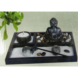 mini jardin zen rectangle 21 5x16cm d coration m ditation. Black Bedroom Furniture Sets. Home Design Ideas