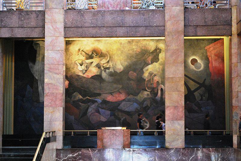 Hoytamayobadf Mexican Muralism Mural In The Palacio De Bellas