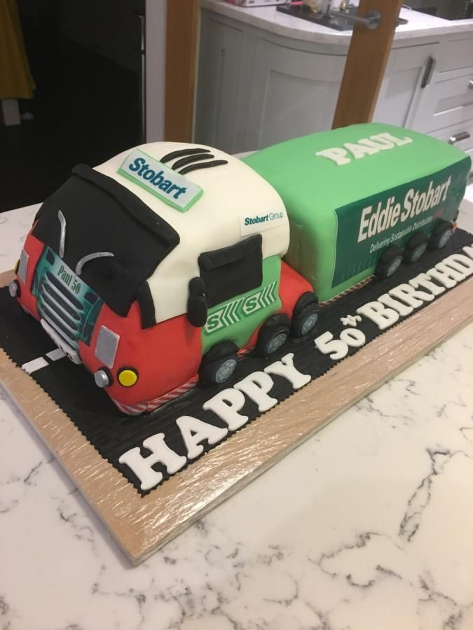 Eddie Stobart Lorry By Shazfoxy Flower Cakes Pinterest Cake