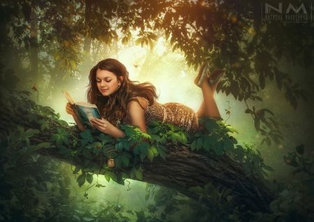 Image result for girl reading a book