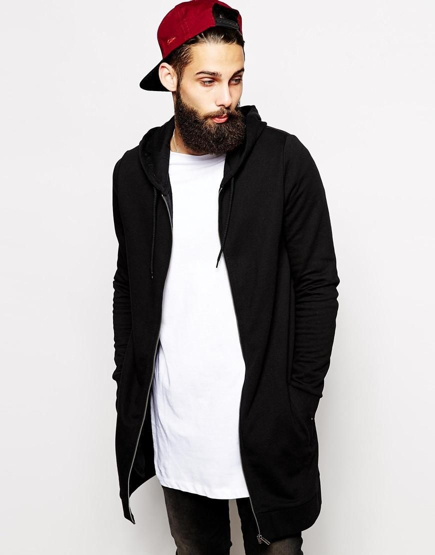 ASOS | ASOS Super Longline Zip Up Hoodie at ASOS | Cool Mens ...