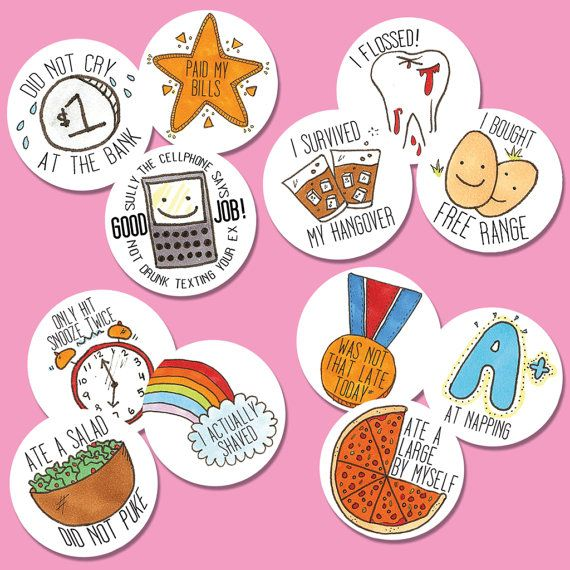 Funny very relatable adulting stickers artwork by terriblay give them to yourself