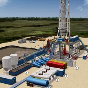 Oil and Natural Gas Drilling Rig Diagram | Engineering | Pinterest ...