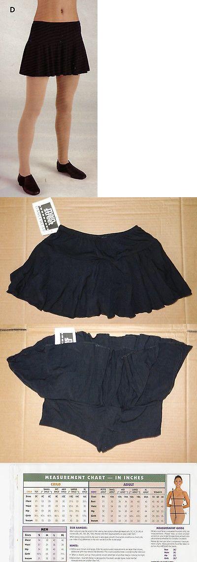 NEW Main street Black Skirt Ladies /& Girls Sizes 83636 Dance Viscose Soft Shorts