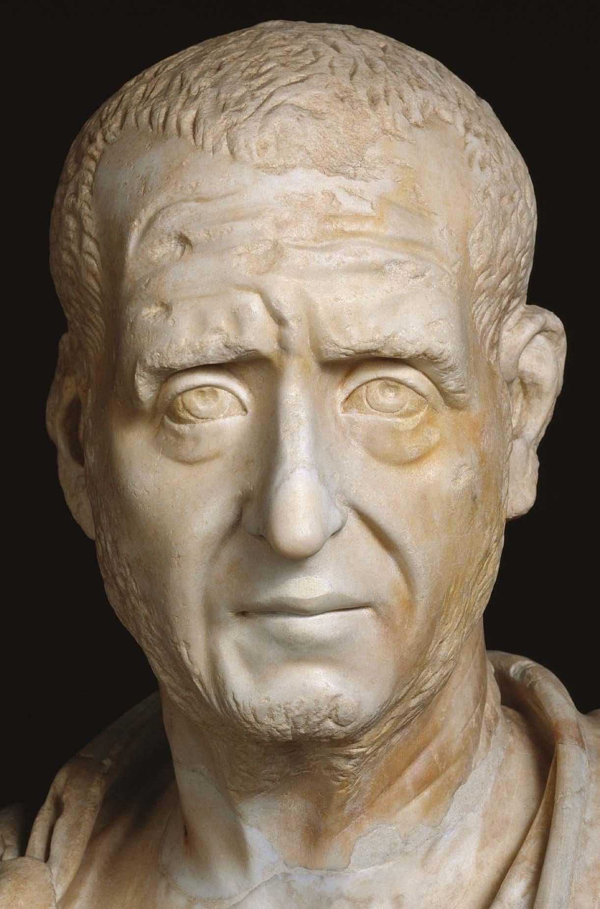 A Head Of Trajan Decius B 249 251 C Marble D Rome E
