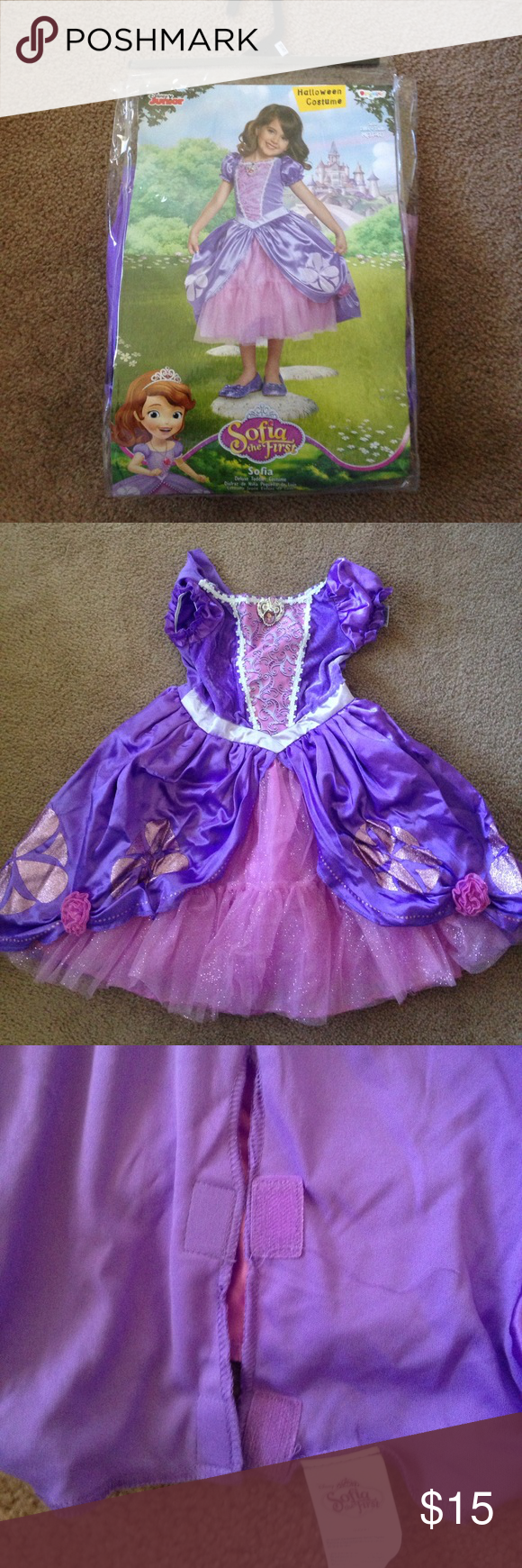 sofia the first halloween costume size 3t/4t