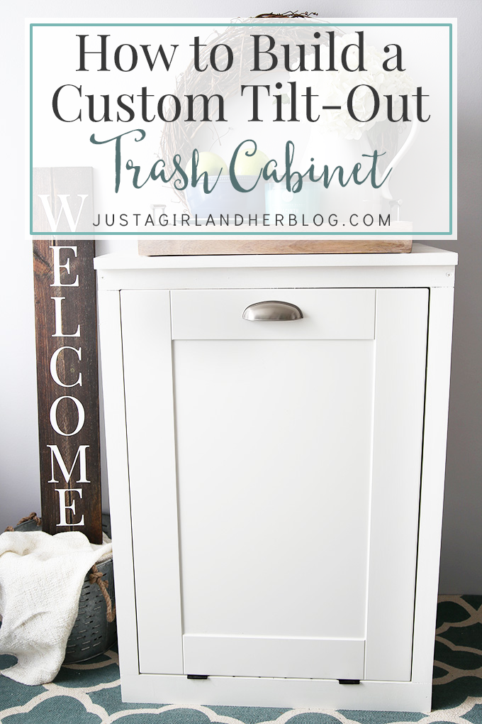 How To Build A Custom Tilt Out Trash Cabinet Cabinets