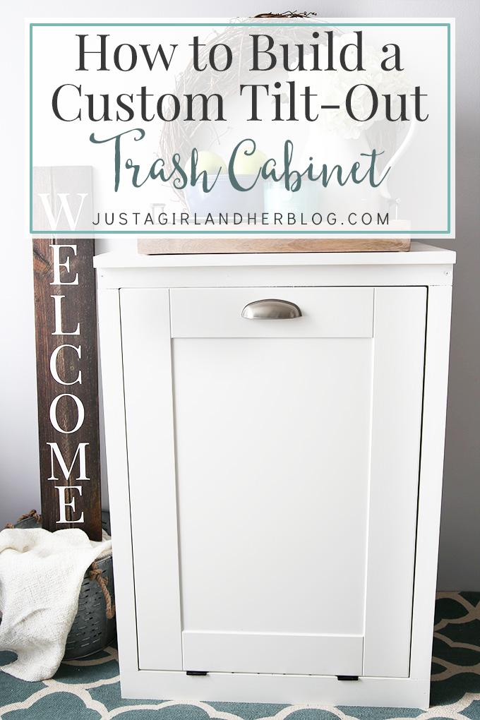 how to build a custom tilt out trash cabinet design diy cabinets rh pinterest com