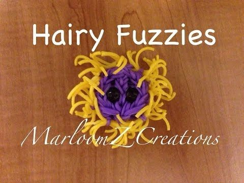 Rainbow Loom HAIRY FUZZIE Charm. Designed and created by MarloomZ Creations. Click photo for YouTube tutorial.