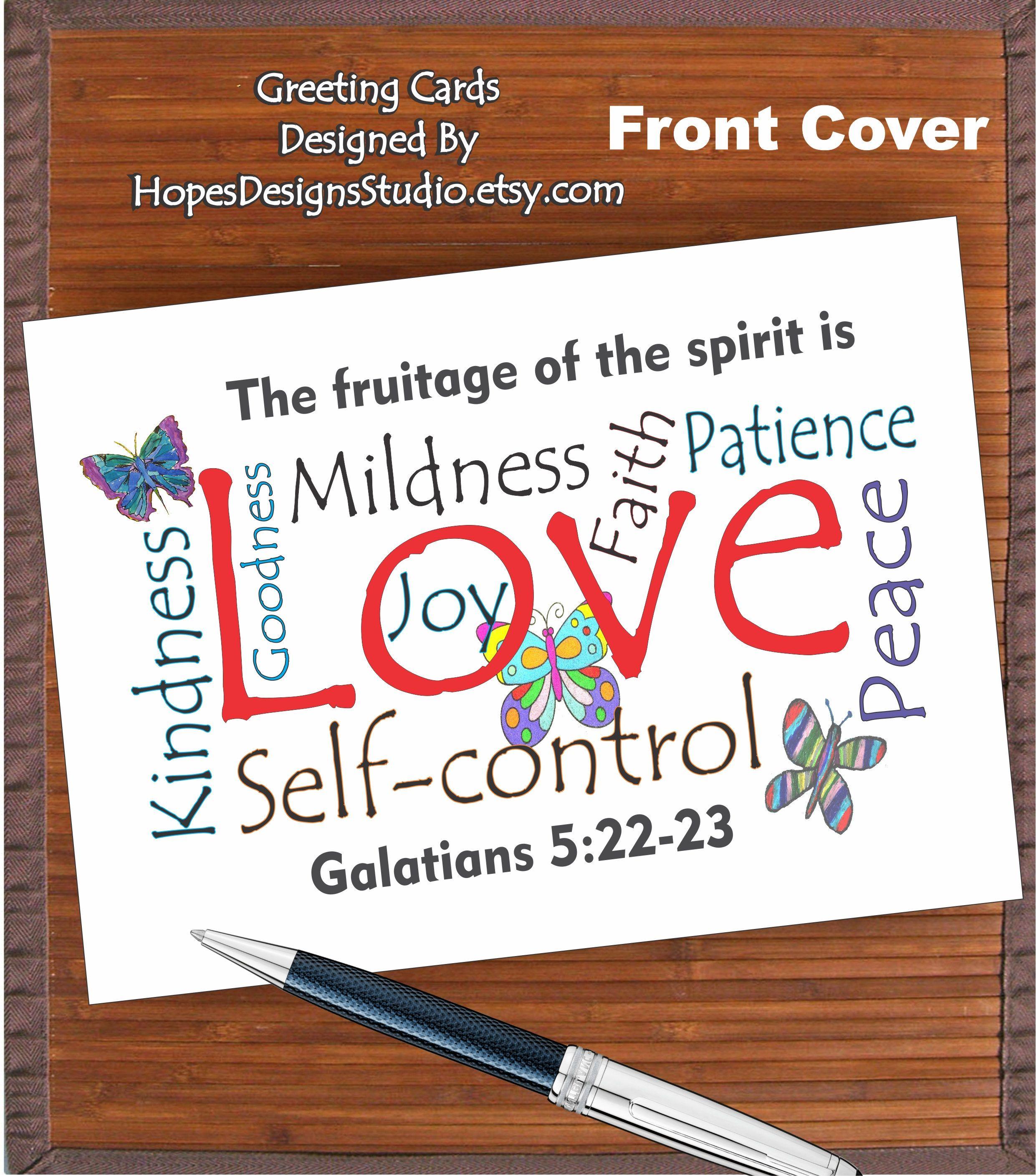 Jw Giftfruitage Of The Spirit Card Galatians 52223jw Cardsjw
