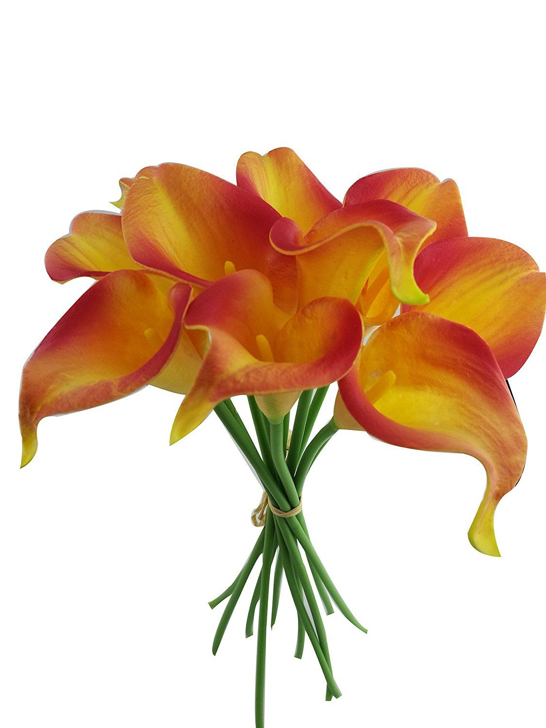 Latex real touch artificial calla lily flower bouquet wedding party