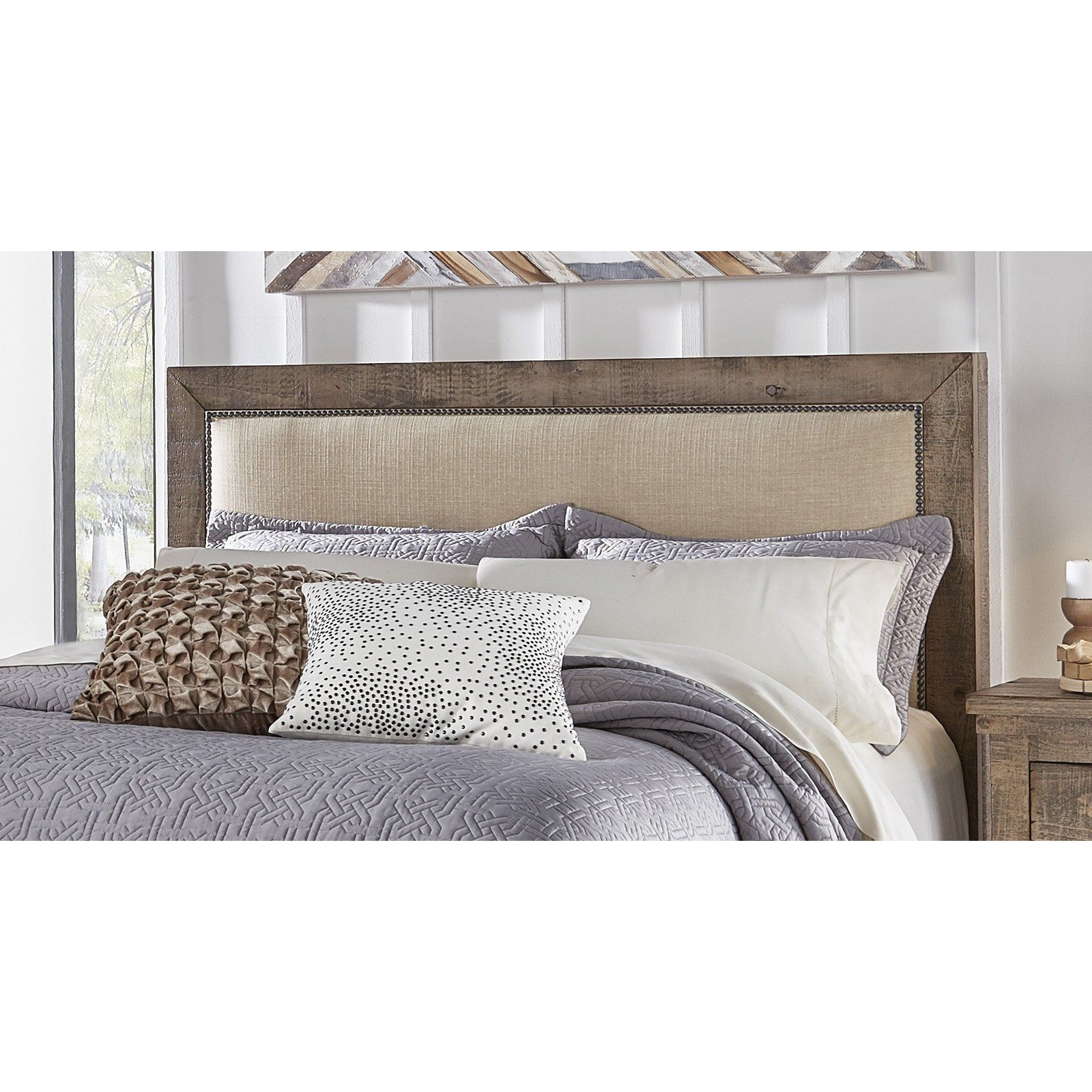 Progressive Furniture Willow Upholstered Headboard from