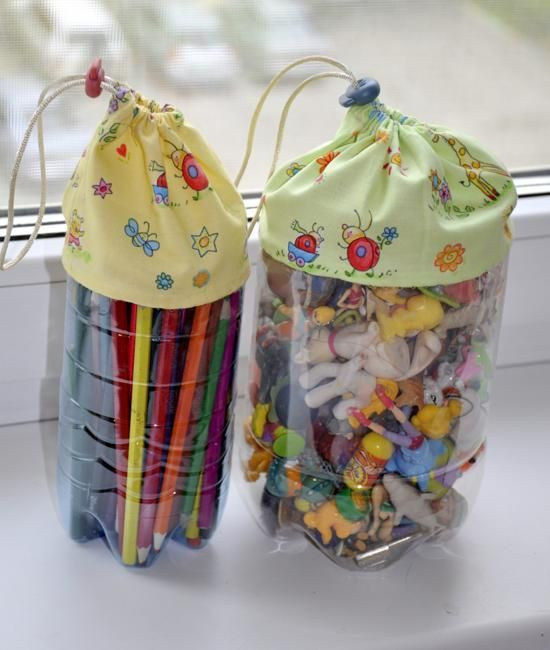 30 handy designs and craft ideas to keep homes organized for Handicrafts made of plastic bottles