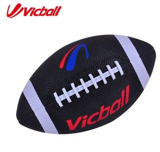 Rubber Amerikaanse Voetbal Solid Rubber Bal Zwarte Kleur
