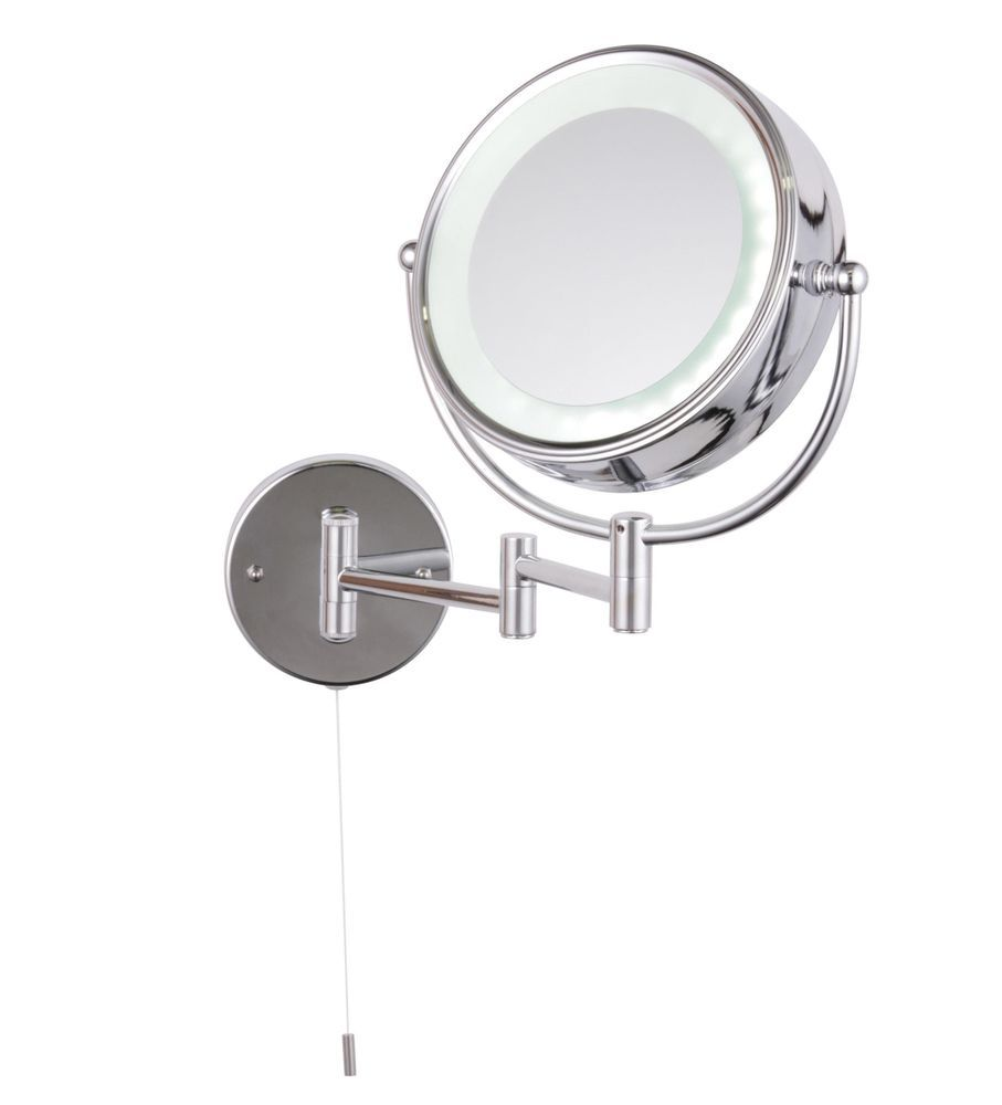 Led Light Illuminated Extendable Make Up Cosmetic Bathroom Shaving Vanity Mirror Jenolan Modern In 2020 Lighted Vanity Mirror Led Mirror Magnifying Mirror