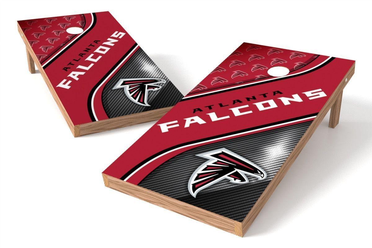 Atlanta Falcons Cornhole Board Set Swirl (w/Bluetooth